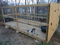 dog kennel outdoor run i like this but i would put a roof on it