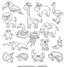 animals alphabet q u children vector stock vector 692318068