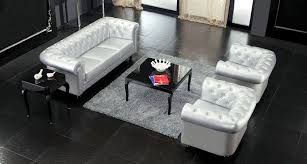 Silver Leather Sofa by 1 Contemporary Furniture Product Page