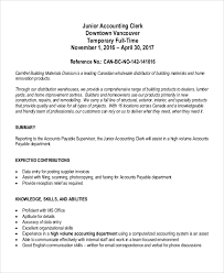 Sample Resume For Accounting Assistant by Office Clerk Job Description Junior Accounting Clerk Job