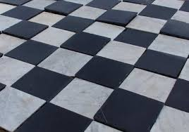antique black and white marble from a monastery