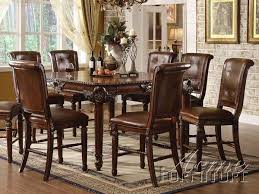 counter height dining room sets acme winfred 9pc counter height dining room set in cherry by