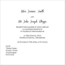 Wedding Invite Examples Interesting Wedding Invitation Wording Evening Only 27 In Cheap