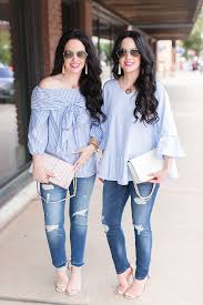 pleione blouse blue bow ruffle blouses weekend style the take