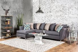 Pillow Back Sofas by Sm6201 Gray Loose Pillow Back Multi Color Sectional Sofa Long