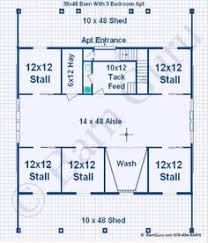 Horse Barns With Apartments Plans 2 Bedroom Apt Horse Barn Floor Plans Pinterest Horse Barns