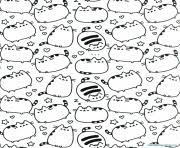 pusheen coloring pages color free printable