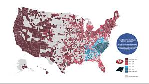Map Of Nba Teams Nfl Division Playoff Round Fan Maps Business Insider