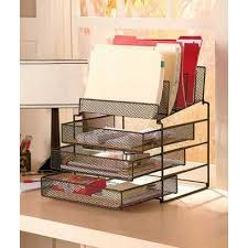 cheap sturdy desktop file organizers with 5 compartments and 3