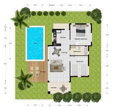3 Bedroom Villa Floor Plans by Orchid Paradise Villas Villa 1 2 Bedroom Pool Villa From 3 99m Baht