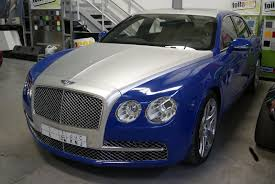 bentley silver bentley flying spur pepsi blue foilacar