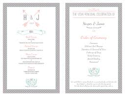 vow renewal program templates free vow renewal invitation suite simply sweet theme wedding