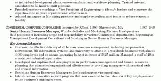 human resource executive cover letter