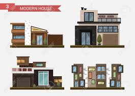 vector flat illustration traditional and modern house family