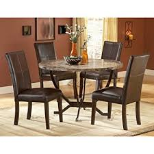 4 Chair Dining Sets Hillsdale Monaco Faux Marble 5 Dining Set
