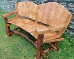 Wooden Garden Furniture Plans Bench Stunning Rustic Outdoor Bench Rustic Wood Outdoor Patio