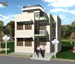 4 bedrooms duplex house design in 128m2 8m x 16m apnaghar