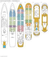 seabourn legend deck plans diagrams pictures video