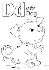 letter dog coloring free printable coloring pages