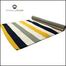 Yellow Striped Rug Yoga Rug Cotton Yoga Rug Manufacturer Exporter India