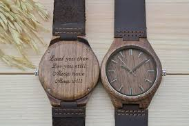 anniversary engraving personalized engraved wooden watches woodchronos