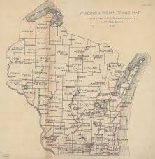 wisconsin map wisconsin indian trails map map or atlas wisconsin historical