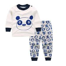2 baby sleep set panda pajamas nightdress nightgown shirt