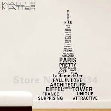 Home Of The Eifell Tower B Z D Free Shipping Paris Eiffel Tower Printing Art Decals