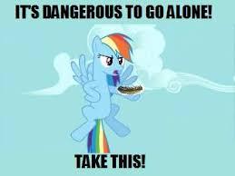 Rainbow Dash Meme - rainbow dash holding pickle zelda meme by das cool 222 on deviantart