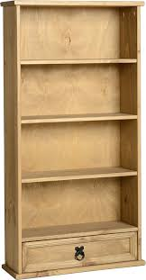 Bookcase Pine Corona Mexican 1 Drawer Bookcase Dvd Rack Storage Unit Solid Pine