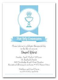 communion invitations for boys blue chalice banner boy s communion invitations