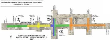 Road Map Of Illinois by Green Street Road Closure Mcore Project Begins