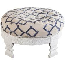 blue and white ottoman moroccan ottoman blue white froy