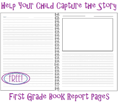 6 best images of 1st grade book report printable 2nd grade book