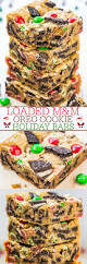 loaded m u0026m oreo cookie holiday bars stuffed to the max with