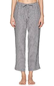 sleepy jones marina gingham silk pajama barneys new york