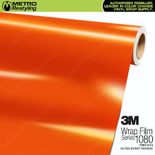 3m scotchprint series 1080 g14 gloss burnt orange vinyl wrap shop