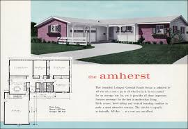 Live In Garage Plans by The Amherst 1960 Mid Century Traditional Ranch Lewis