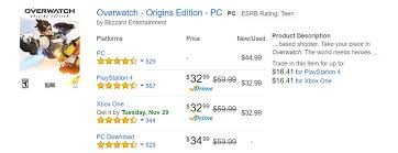 cheap gaming pc black friday amazon buy overwatch for less than its black friday price gaming news