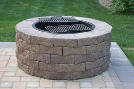 Firepit Grates Above Ground Concrete Blocks Barrier Outdoor