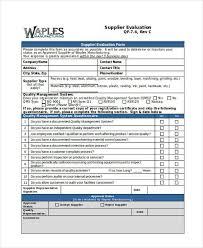 Supplier Scorecard Template Excel Supplier Evaluation Form Exle Supplier Scorecard Incorporating