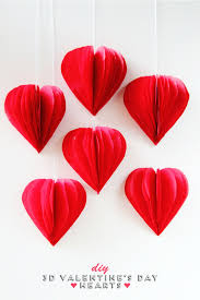 Valentine S Day Store Decoration by Diy 3d Valentine U0027s Day Tissue Paper Heart Decorations Paper
