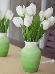 Flowers Glass Vase Decorate A Glass Vase Glass Vase Crafts