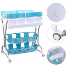 rolling baby changing table 2 in 1 baby infant changing table bath tub unit rolling station