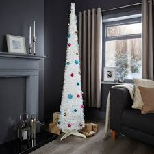 pop up tree 6ft pop up white pre lit pre decorated christmas tree