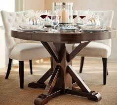 Dining Room Tivoli Fixed Pedestal Table Pottery Barn With Regard - Brilliant small glass top dining table house