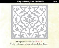 stencil boss damask lotus designer allover pattern stencil for