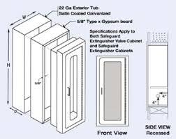 semi recessed fire extinguisher cabinet elite series architectural fire rate semi recessed fire extinguisher