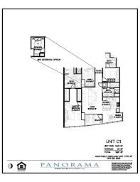 panorama floor plans 2 bedroom 3 bath den panorama towers las