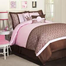 confortable pink and brown bedding for adults cute home decorating